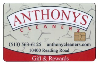Anthonys Cleaners Rewards Card